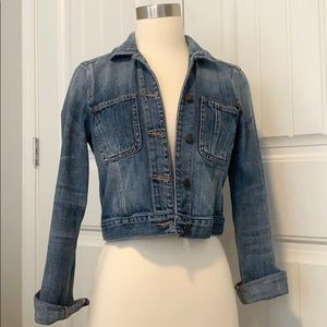 Abercrombie & Fitch Cropped Denim Jacket S